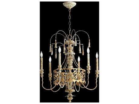 Quorum International Leduc Florentine Gold Six-Light 23'' Wide Chandelier QM6355661