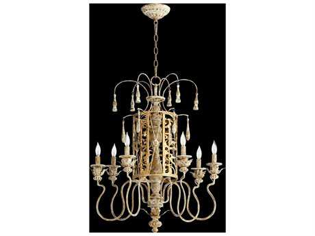 Quorum International Leduc Florentine Gold Six-Light 25'' Wide Chandelier QM6357661
