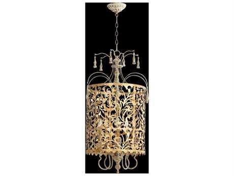Quorum International Leduc Florentine Gold Five-Light Pendant Light QM8355561