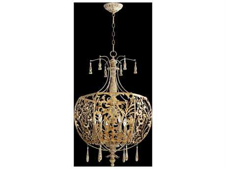 Quorum International Leduc Florentine Gold Six-Light Pendant Light QM8356661