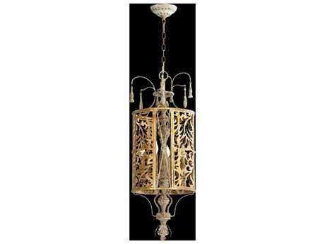Quorum International Leduc Florentine Gold Four-Light Pendant Light QM8357461