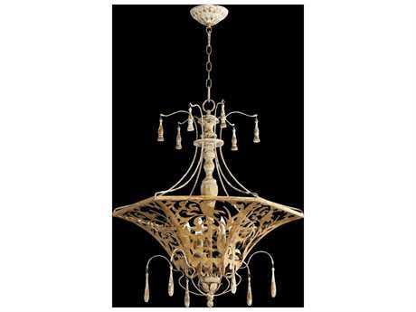 Quorum International Leduc Florentine Gold Six-Light Pendant Light QM8359661