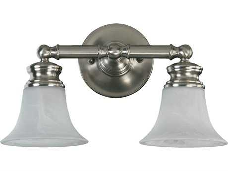 Quorum International Madison Satin Nickel Two-Lights Vanity Light QM5474265