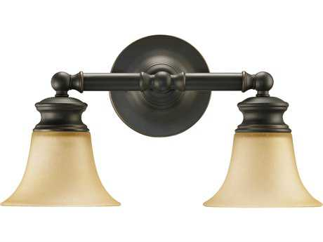 Quorum International Madison Old World Two-Lights Vanity Light QM5474295