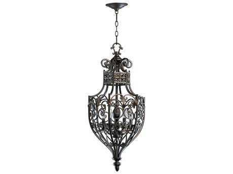 Quorum International Marcela Oiled Bronze Six-Light 14.5'' Wide Pendant Light QM6831686