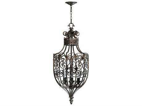 Quorum International Marcela Oiled Bronze Nine-Light 17'' Wide Pendant Light