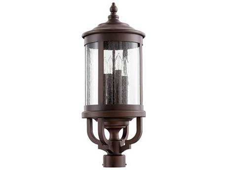 Quorum International Mayfair Oiled Bronze Four-Light Outdoor Post Light