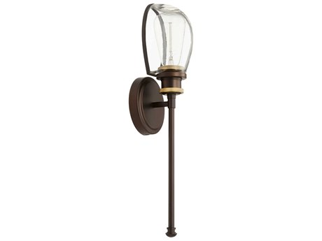 Quorum International Menlo Aged Brass and Oiled Bronze 5'' Wide Wall Sconce QM51718086