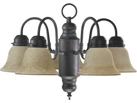Quorum International Toasted Sienna Five-Light 20'' Wide s Mini Chandelier