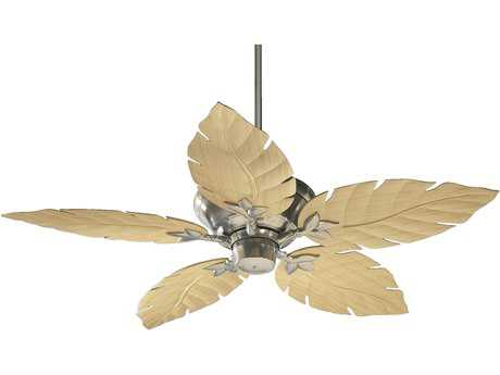 Quorum International Monaco Satin Nickel 52 Inch Outdoor Ceiling Fan