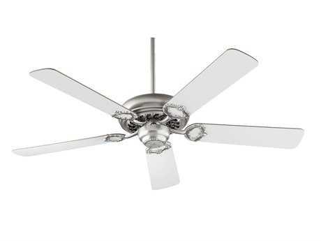 Quorum International Monticello Satin Nickel with Studio White 52 Inch Indoor Ceiling Fan QM1752565