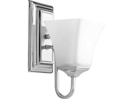 Quorum International Polished Nickel with Satin Opal Glass 5'' Wide Vanity Light