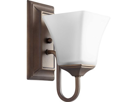 Quorum International Oiled Bronze with Satin Opal Glass 5'' Wide Vanity Light QM5504186