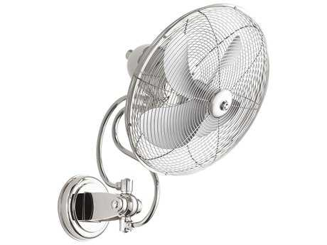 Quorum International Piazza Polished Nickel 18'' Wide Wall Fan QM9414462