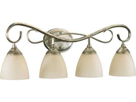Quorum International Powell Mystic Silver Four-Lights Vanity Light QM5108458