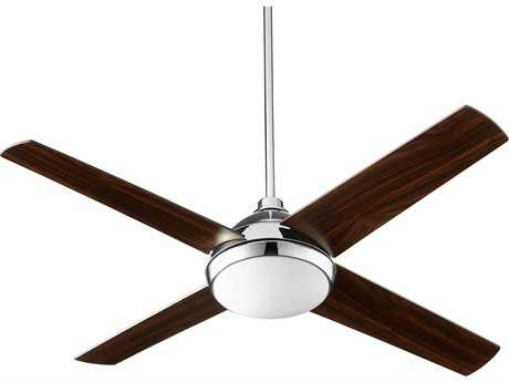 Quorum International Quest Polished Nickel 52'' Wide Indoor Ceiling Fan with Light QM6852462