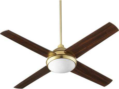 Quorum International Quest Aged Brass 52'' Wide Indoor Ceiling Fan with Light QM6852480