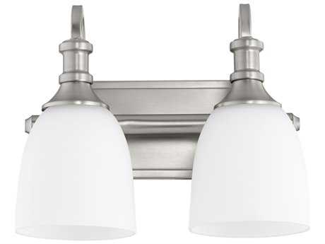 Quorum International Richmond Satin Nickel with Satin Opal Two-Light Vanity Light QM5011265
