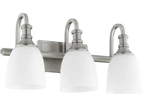Quorum International Richmond Satin Nickel with Satin Opal Three-Light Vanity Light QM5011365