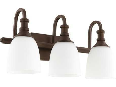 Quorum International Richmond Oiled Bronze with Satin Opal Three-Light Vanity Light QM5011386