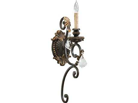 Quorum International Rio Salado Toasted Sienna with Mystic Silver Wall Sconce QM5357144