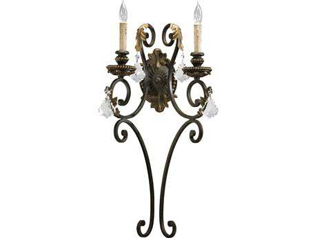 Quorum International Rio Salado Toasted Sienna with Mystic Silver Two-Lights Wall Sconce QM5357244