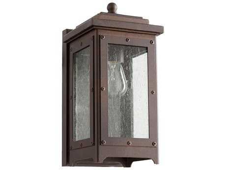 Quorum International Riverdale Oiled Bronze with Clear Seeded Glass Outdoor Wall Light QM75786