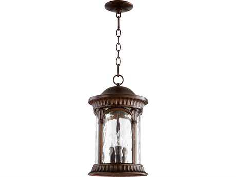 Quorum International Riviera Oiled Bronze Three-Lights Outdoor Hanging Light QM7902386