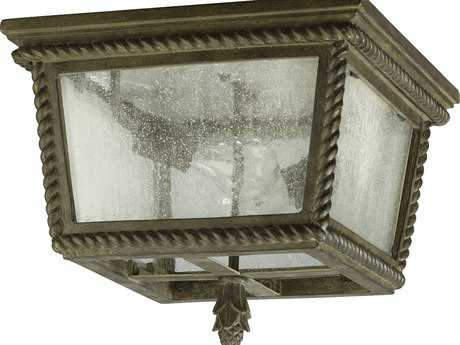 Quorum International Rochelle Etruscan Sienna Two-Lights Outdoor Flush Mount Light QM39101343