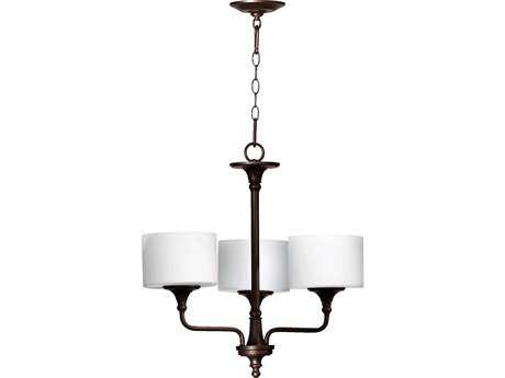 Quorum International Rockwood Oiled Bronze Three-Light 22'' Wide Chandelier QM6090386