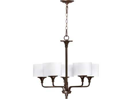Quorum International Rockwood Oiled Bronze Five-Light 27'' Wide Chandelier QM6090586
