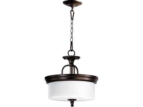 Quorum International Rockwood Oiled Bronze Three-Lights Pendant Light QM28901486