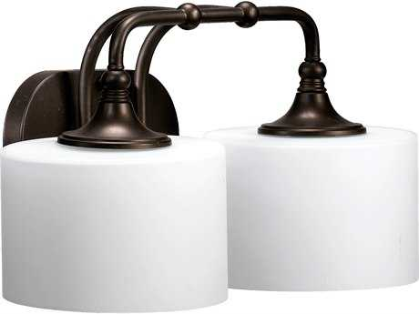 Quorum International Rockwood Oiled Bronze Oiled Bronze Two-Lights Vanity Light QM5090286