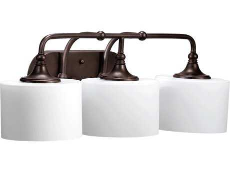 Quorum International Rockwood Oiled Bronze Three-Lights Vanity Light QM5090386