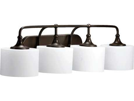 Quorum International Rockwood Oiled Bronze Four-Lights Vanity Light QM5090486