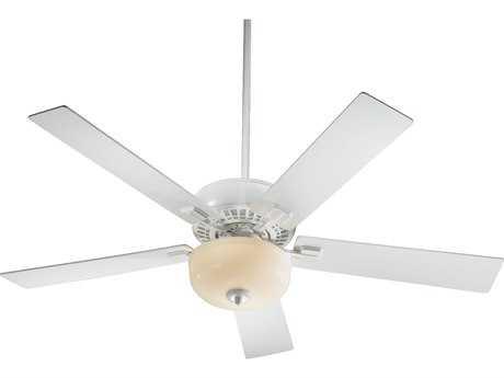 Quorum International Rothman Studio White 52 Inch Indoor Ceiling Fan with Light QM73525908