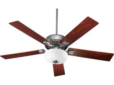 Quorum International Rothman Satin Nickel 52 Inch Indoor Ceiling Fan with Light QM73525965