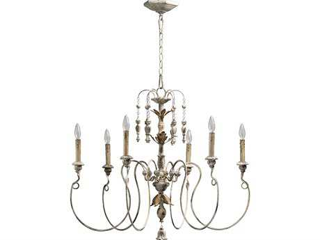 Quorum International Salento Persian White Six-Light 32'' Wide Chandelier QM6006670