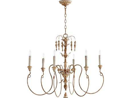 Quorum International Salento French Umber Six-Light 32'' Wide Chandelier QM6006694