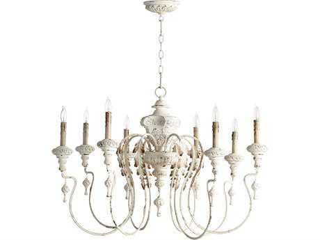 Quorum International Salento Persian White Eight-Light 38'' Wide Chandelier QM6006870