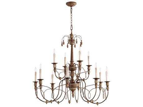 Quorum International Salento Vintage Copper 12-Light 39'' Wide Chandelier QM61061239