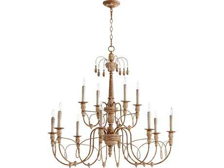 Quorum International Salento French Umber 12-Light 39'' Wide Chandelier QM61061294