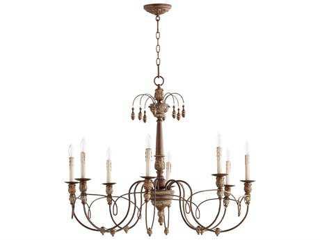 Quorum International Salento Vintage Copper Eight-Light 37'' Wide Chandelier QM6106839