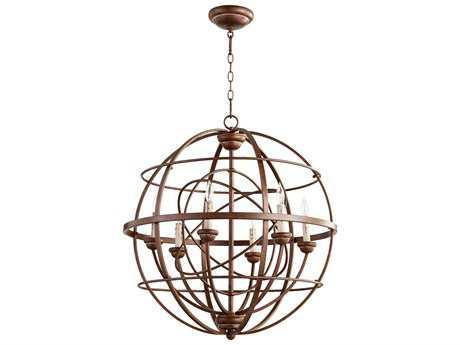 Quorum International Salento Vintage Copper Six-Light 27'' Wide Chandelier QM6216639