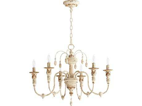 Quorum International Salento Persian White Six-Light 25'' Wide Chandelier QM6316670
