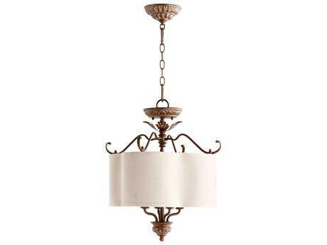 Quorum International Salento Vintage Copper Four-Light 18'' Wide Pendant Light QM27061839