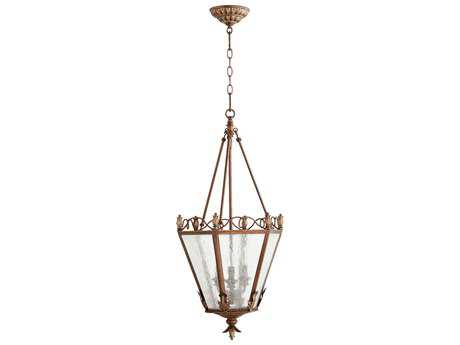 Quorum International Salento Vintage Copper Three-Light 15'' Wide Pendant Light QM6806339