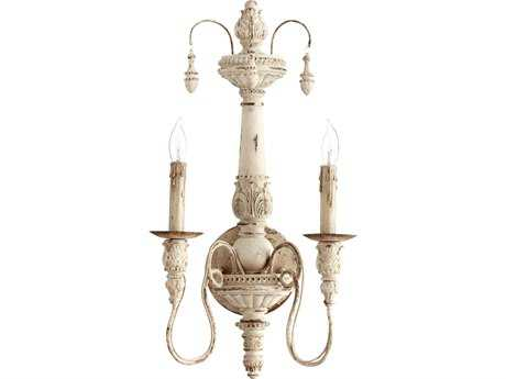 Quorum International Salento Persian White Two-Lights Wall Sconce QM5506270