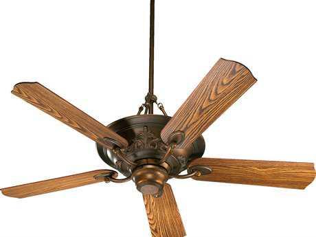 Quorum International Salon Corsican Gold 56 Inch Indoor Ceiling Fan with Lights QM8356588
