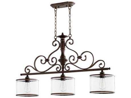 Quorum International San Miguel Vintage Copper Three-Light 9'' Wide Island Light QM6573339
